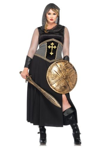 She may look like a warrior but she's actually a saint! This Plus Size Joan of Arc Costume will turn you into the heroic female warrior. It comes in sizes 1x-4x and is $64.99 from www.halloweencostumes.com