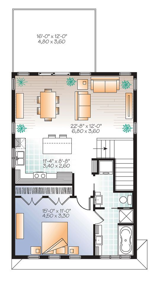 Best 25 garage apartments ideas on pinterest - Garage plans with apartment one level ...