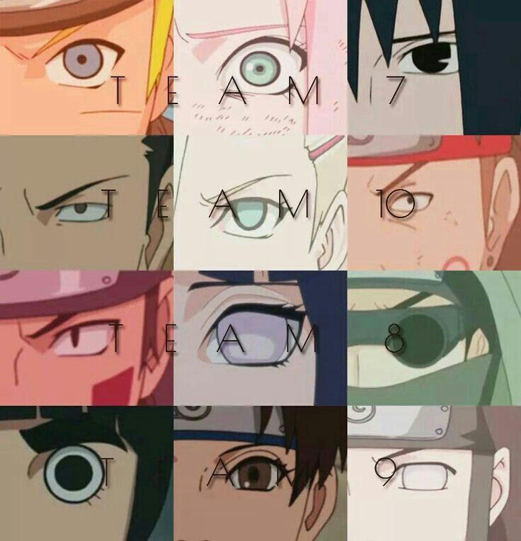 Naruto Sakura Sasuke Shikamaru Ino Choji Kiba: Team 7, Naruto, Sasuke, Sakura, Team 10, Choji, Shikamaru