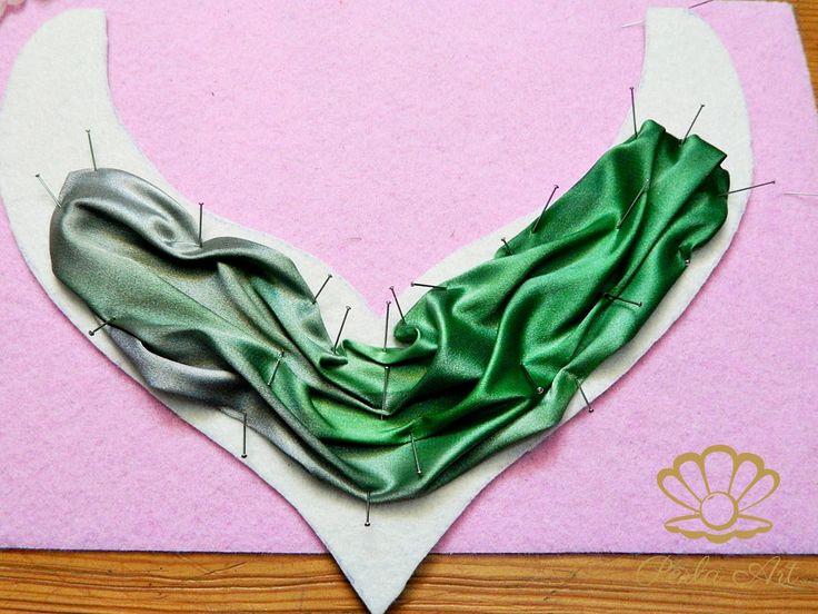 Shibori-style Bib Necklace • Tutorial using Satin in lieu of Shibori ribbon