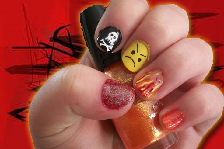 Nail Art Challenge, Day 20: Inspired by an emotion, Angry