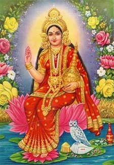 Goddess Of Wealth | Back To: Home > Hindu Posters