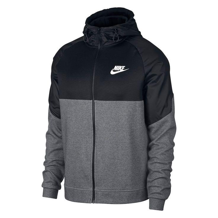 Men's Nike AV15 Full-Zip Hoodie, Size: Small, Grey Other