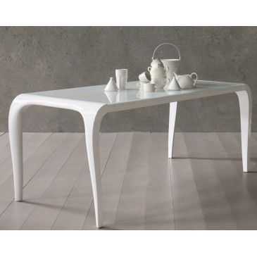 #Artù is the glass table with elegant and modern design. It has soft lines with top in fine white glass