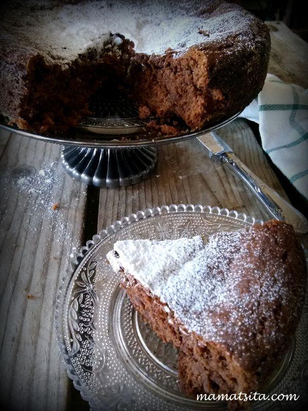 νηστίσιμο κέικ με σοκολατένιο ταχίνι