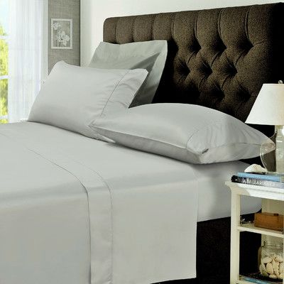 Tribeca Living 400 Thread Count Egyptian Cotton Percale Deep Pocket Sheet Set