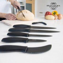 Bravissima Kitchen Titanium Professionelle Keramikmesser (7 Stück)