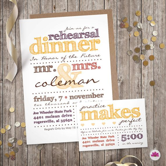 Fall Rehearsal Dinner Invitation Practice by EventswithGrace