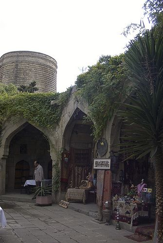 Caravanserai, Walled City of Baku, Azerbaijan