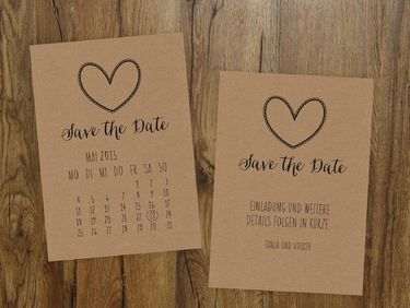 Save the Date Karte | Kalenderblatt