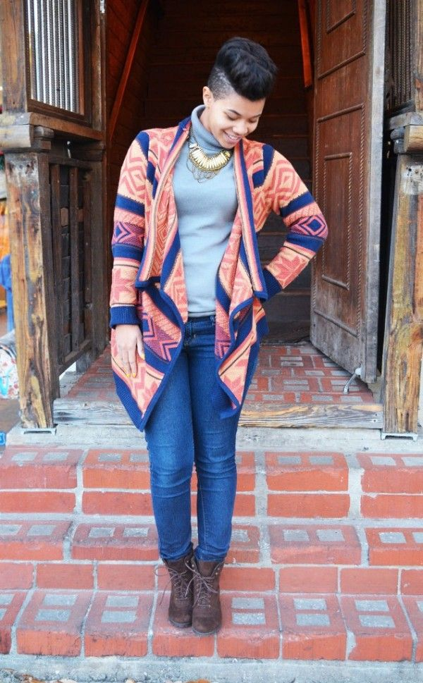 Tribal knit Christmas hooded cardigan,  women long aztec knitted Christmas cloak cardigan #tribal #knit #Christmas #cardigan www.loveitsomuch.com