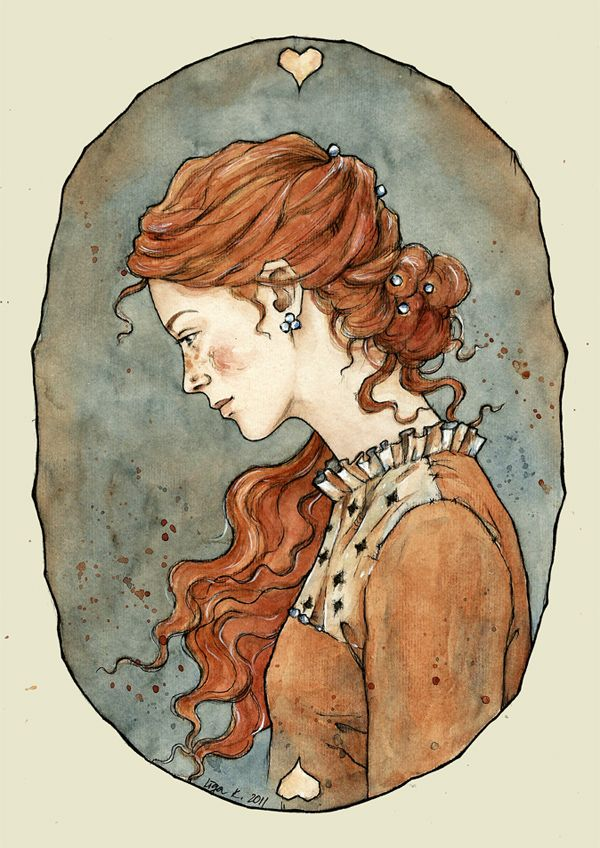 Anne Shirley. (Pretty sure this is Sansa Stark fanart, but reminds me of Anne anyway.)