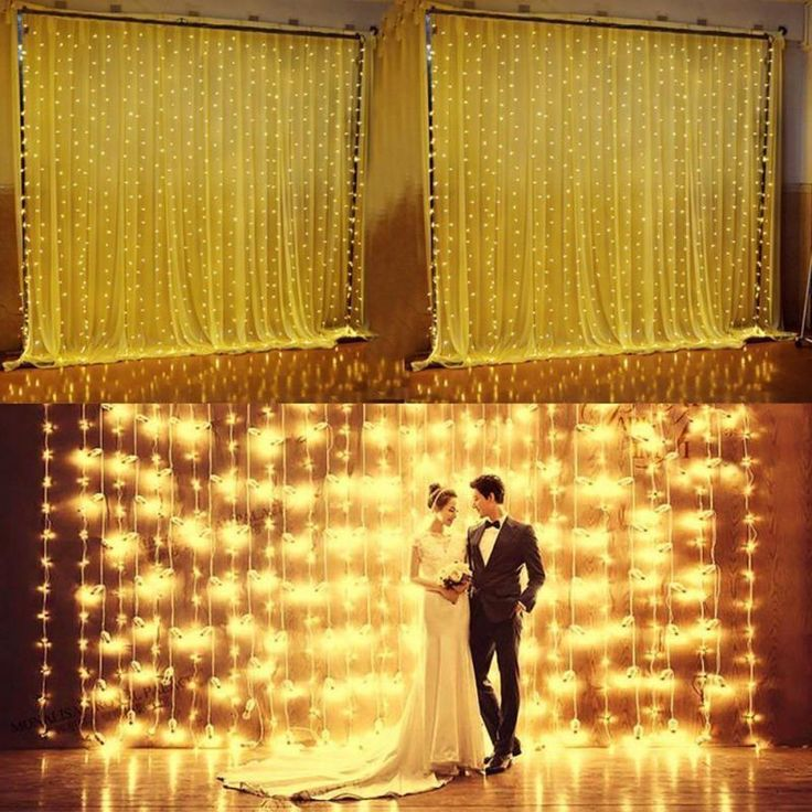 3Mx3M 300LED Icicle Curtain Fairy String Lights Wedding Party Xmas Decor LED Plastic Holiday Cur