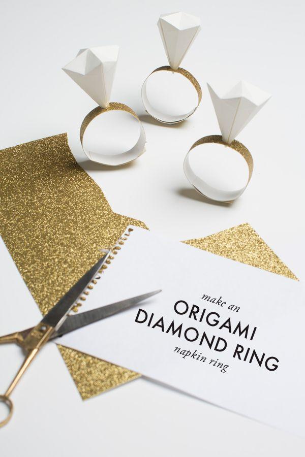 Origami diamond ring