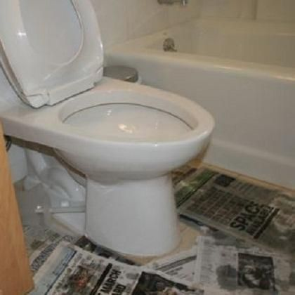 How To Fix A Clogged Toilet And Floor Protection ~ http://lanewstalk.com/tips-of-how-to-fix-a-clogged-toilet/