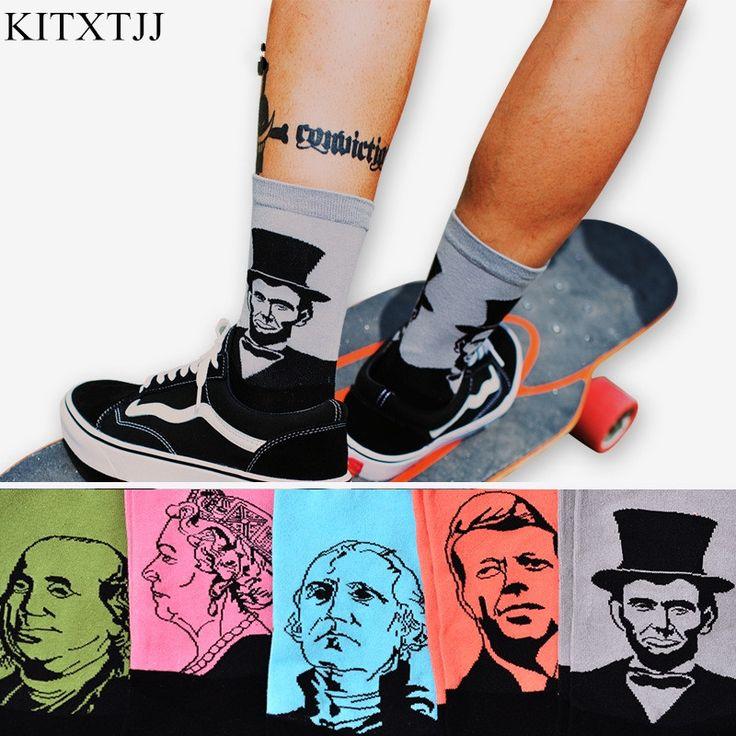 >> Click to Buy << Fashion Casual Art Socks Men Women Cotton Crew Lincoin 3D Print Design Skate Brand Happy Meias Harajuku Novelty Sox Dropshipping #Affiliate