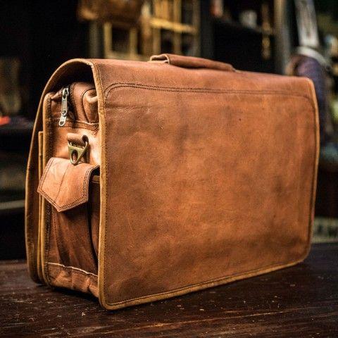 Everett Men's Vintage Leather Messenger Bag