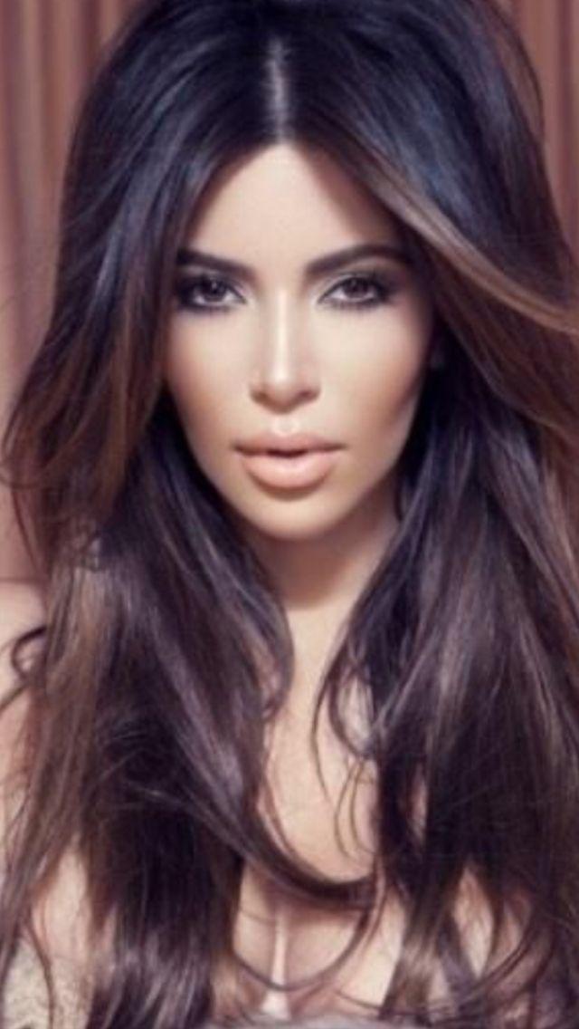 Dark Ombre Kim Kardashian Hair Amp Makeup I Heart