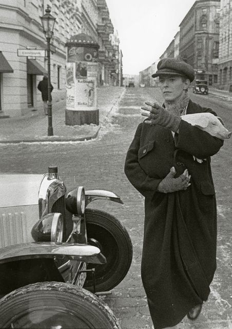 David Bowie and Pig, West Berlin 1979 by Unknown Photographer.