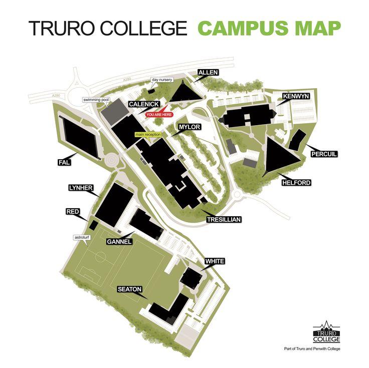 Truro College campus map