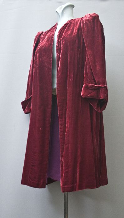 1930's lady's silk velvet coat from the Mab's Collection