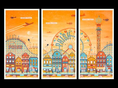 Phish // Atlantic City, NJ Poster Series  by DKNG #beautiful #illustration #dribbble