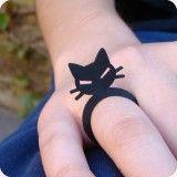 Anel gatoCat Fascinators, Coleção Pets, Chat Noir, Anel Gatos, Pets Designtun, Pets Collection, Noir Fascinators, Black Cat
