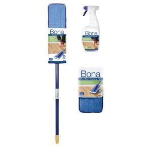 Bona Wood Floor Mop Cleaning Kit Bona Wood Floor Mop Cleaning Kit.This Wood floor mop cleaning kit is suitable for use on all wood floors. (Barcode EAN=7312795241005) http://www.MightGet.com/april-2017-1/bona-wood-floor-mop-cleaning-kit.asp