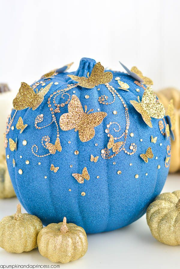 DIY Disney Movie Themed Charming Cinderella Butterfly Pumpkin!