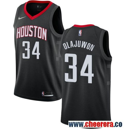 Houston Rockets  34 Hakeem Olajuwon Black Nike NBA Men s Stitched Swingman  Jersey e797475d9