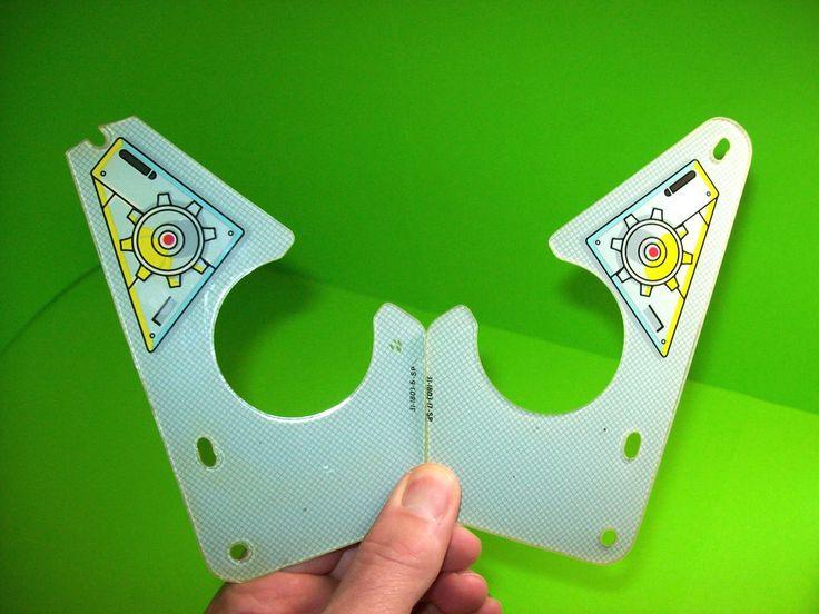 STAR TREK THE NEXT GENERATION Original Pinball Machine Slingshot Plastic Set #WilliamsStarTrekTheNextGeneration