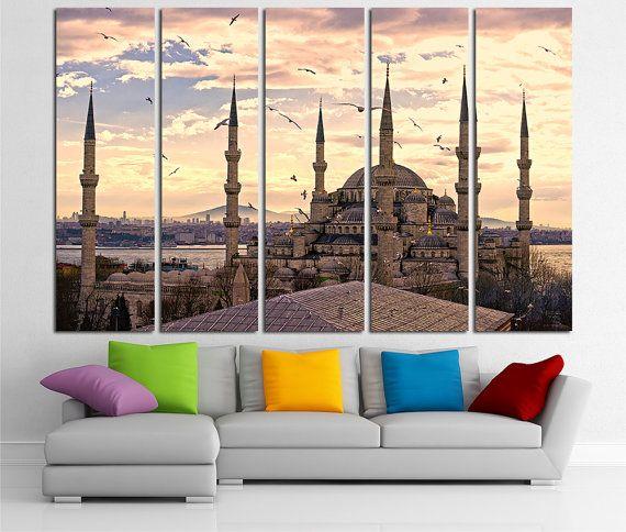 Turkey Large Canvas Print Wall Art Istanbul Wall Art Turkey Etsy Large Canvas Prints Canvas Art Decor Canvas Print Wall