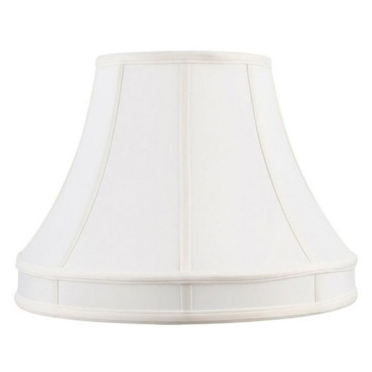 Livex S536 Shantung Silk Lamp Shade in White - S536