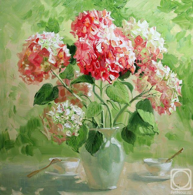 Павлова Мария. Розовые гортензии