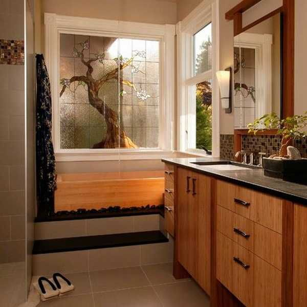 Photo Album For Website Bathroom Modern Bathroom Ceiling Designs Space Saving Bathroom Vanities Asian Themed Master Bath With Nuetral Shades And Lovely Bamboo Cabinetry