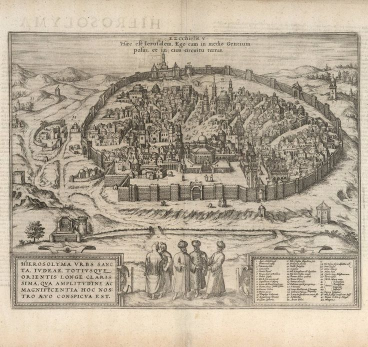 Map Of Germany With Cities%0A Historical City Map of Jerusalem    th Century Fine Art Reproduction MP