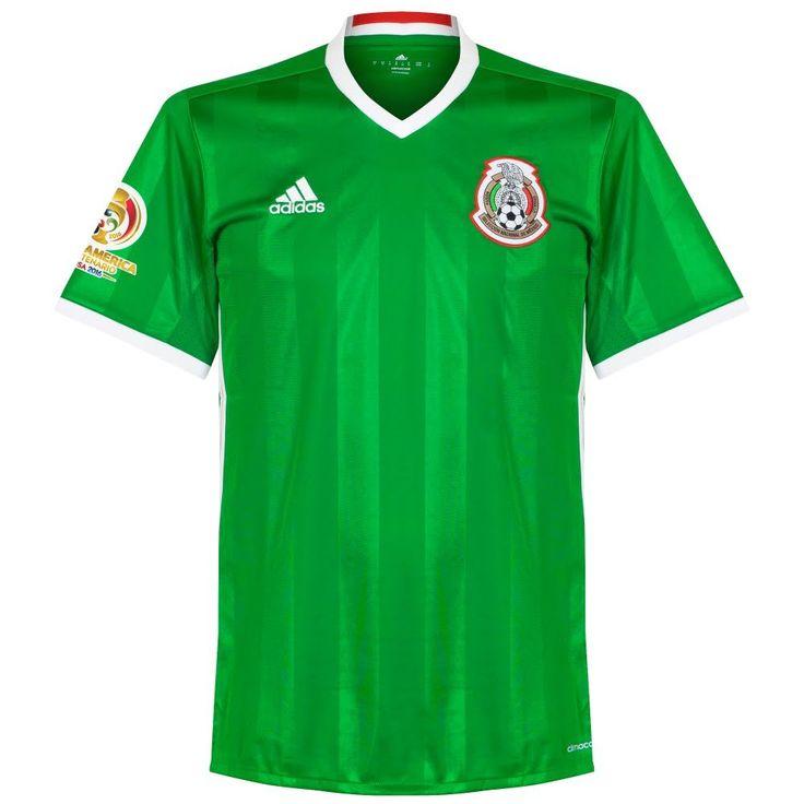 Mexico Home Jersey 2016 / 2017 + Copa America Centenario Patch - XXL. 100% Polyester. Player Print - adidas Performance. Green.