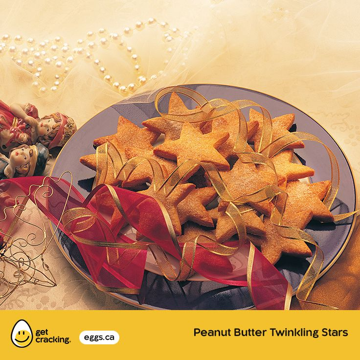 Peanut Butter Twinkling Stars | Eggs.ca | #GetCracking #Eggs #Cookies