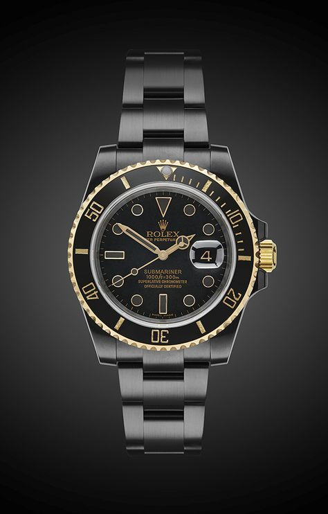 Titan Black DLC Rolex Submariner. ... if I HAD to wear a Rolex, I guess this one would do...