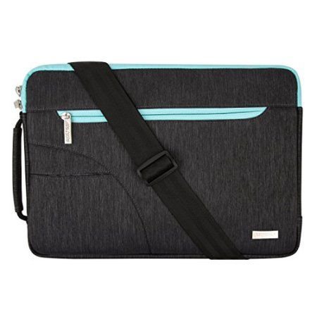 Mosiso Laptop Shoulder Bag Briefcase, Sleeve Cover Polyester 11-11.6 Inch Carry Case for Acer Chromebook 11 / HP Stream 11 / Samsung Chromebook 2 / Notebook Computer / MacBook Air, Black