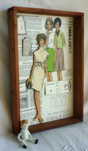 This starts the wheels rolling of creating with vintage patterns.