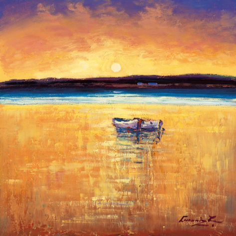 Sunset, Dingle Bay Print by William Cunningham at Art.com