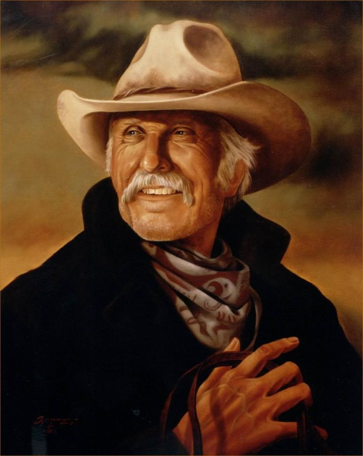 Lonesome Dove Portrait Painting in Oil - Gus McCrae - Robert Duvall of Lonesome Dove - Commissioned Commissioned Oil Portraits - Portrait Artist Rick Timmons