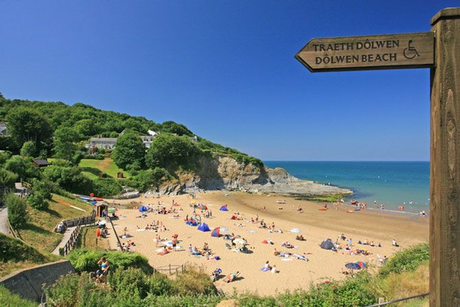 The former fishing village of Aberporth is a great place for a traditional family beach holiday with two beautiful Blue Flag beaches.