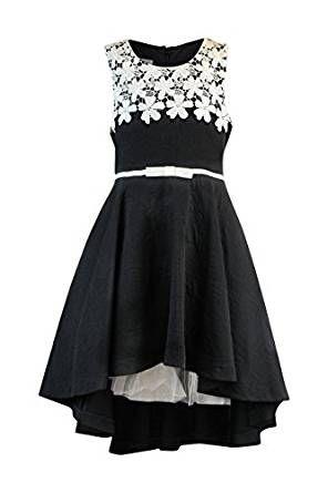 c5e7953dd6 Bonnie Jean Big Girls 7-16 Sleeveless Lace belted High low Dress - Black  Party Dress Children s Fashion  childrensclothing  children  childrenswear   dresses
