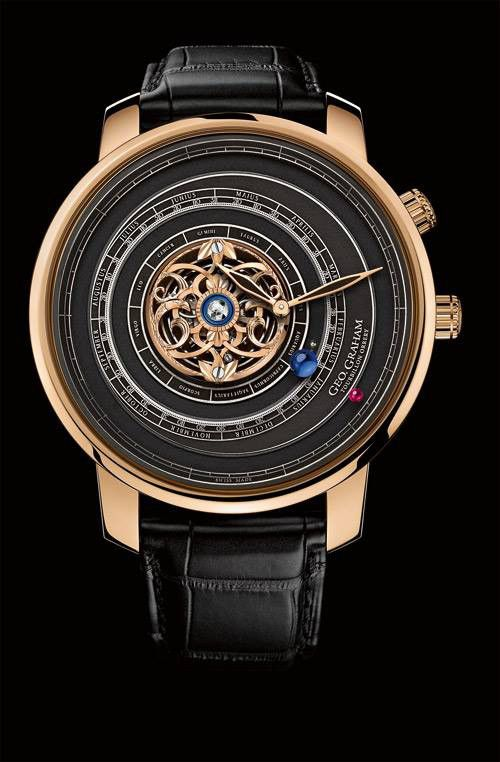 """Geo.Graham Tourbillon Orrery Men's Watch - """"O Children of Adam Wear your beautiful apparel at every time and place of prayer: eat and drink: but wast not be excess, for Allah loveth not the wasters."""" Surah Araf, 31"""