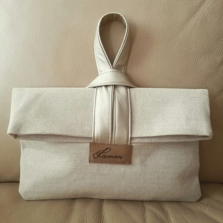 Canvas clutch_gold fake leather