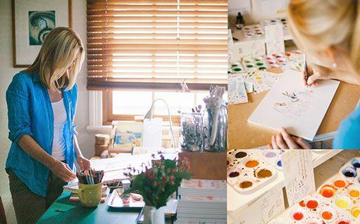 Kate Knapp's studio space
