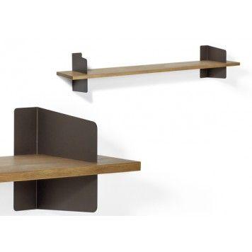 Atelier Wandregal Bronze / Eiche Geräuchert Richard Lampert