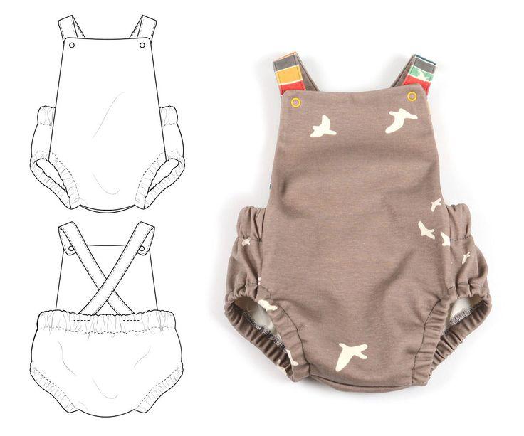 Summer romper sewing pattern sizes preemie to 3T -pattern 87 by brindilleandtwig on Etsy https://www.etsy.com/au/listing/234269378/summer-romper-sewing-pattern-sizes